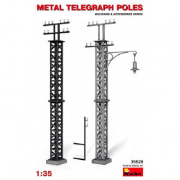 MiniArt  1/35    Metal Telegraph Poles