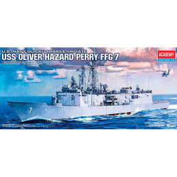 Academy  1/350  U.S. Navy Guided Missile Frigate. U.S.S. Oliver Hazard Perry FFG-7