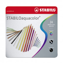 Stabilo   Lápices Acuareables 24un - Watercolor Pencils