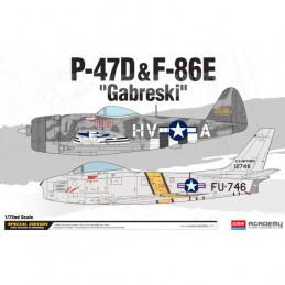 Academy  1/72   P-47D &...