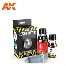 AK Interactive  Resin Water 2 Components - Agua en Resina de 2 Componentes 180ml